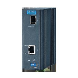 EKI-2741FHPI-AE - Gigabit Media Converter SFP with 1x PoE