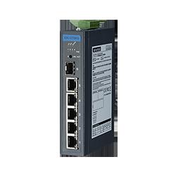 EKI-2706G-1GFPI-BU - 5GE+1G SFP Unmanaged Ind. PoE Switch W/T