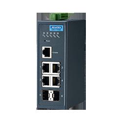 EKI-7706E-2FI-AE - 4FE + 2SFP Managed Ethernet Switch Wide