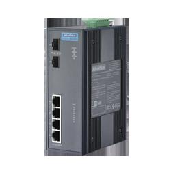 EKI-2726FHPI-AE - 4+2 Giga w/4 802.3at PoE Industrial Swi