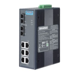 EKI-2728S-AE - 6G+2G SM Unmanaged Ethernet Switch