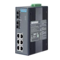 EKI-2728SI-AE - 6G+2G SM Unmanaged Ethernet Switch w/ W