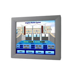 "FPM-2120G-R3BE - 12"" XGA Ind. Monitor w/Resistive TS (RS"