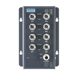 EKI-9508G-PL-AE - EN50155 M12 8GE PoE Unmanaged Sw