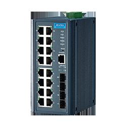 EKI-7720G-4FI-AE - 16G+4SFP Port Managed Ethernet Switch W